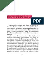 ¿Hay comunicacion en la comunicacion politica? Maria Jose Canel.