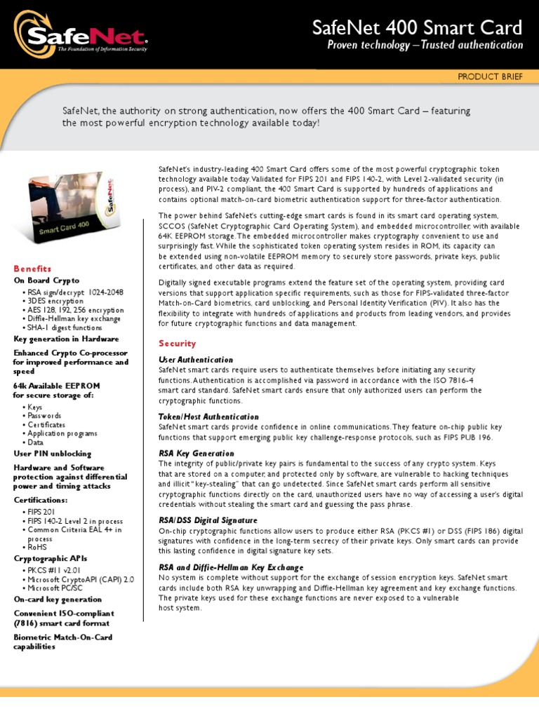 SC400 | Key (Cryptography) | Smart Card