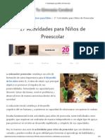 17 Actividades para Niños de Preescolar