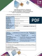 Guía de actividades y rúbrica de evaluación - Fase 3 - Trabajo colaborativo Fundamentos de Probabilidad