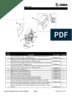 Zebra ZT400 Series Parts Manual