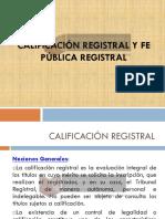 Modulo 3 Calificación Registral y Fe publica registral - Modulo 3
