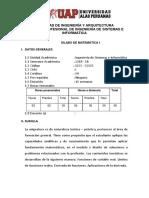 SILABO DE MATEMÁTICA I_2019