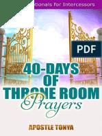 40-Days of Throne Room Prayers by Apostle Tonya