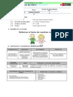 4°- III Unidad - 1 Sesión de Aprendizaje - Comunicación