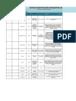Matriz de Identificación de Requisitos Legales y otra índole