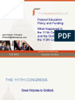 Federal Education Policy and Funding 2010 & 2011