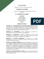 TEMA 12 LEY 1015 DE 2006 POR EL MEDIO DEL CUAL SE EXPIDE EL REGIMEN DISCIPLINARIO PARA LA POLICIA NACIONAL