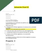 Evaluación Final 01 y 02. Derecho Mercantil y Sociedades