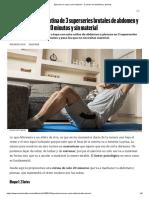 Ejercicio en casa y sin material - ·3 series de abdomen y piernas