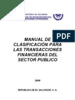 Manualclasificacion Para Las Transacciones Financier As Del Sector Publico