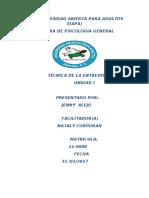 TECNICA DE LA ENTRVISTA I.docx