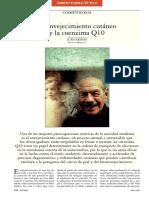 El envejecimiento cutáneo y la coenzima Q10