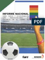 Informe Nacional sobre Fobias y Discriminación como Manifestaciones de Violencia en el Fútbol de Honduras (Informe Final)