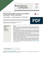 Castillo, 2015, Nivel de autoconcepto en niños - con secuelas de quemaduras - estudio comparativo