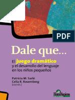5.- DALE QUE... EL JUEGO DRAMATICO Y EL DESARROLLO DEL LENGUAJE EN LOS NIÑOS PEQUEÑOS