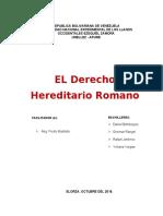 el derecho hereditario en romano corregido