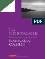 Barbara cassin-La Nostalgie