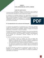 UNIDAD 5 EVALUACION DEL DESEMPEÑO DEL CAPITAL HUMANO