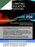 ESTIMATING POPULATION PROPORTIONS