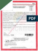 certificado CPE jabones