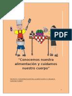 PROYECTO CONOCEMOS NUESTRO ALIMENTACIÓN Y CUIDAMOS NUESTRO CUERPO..docx