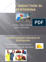 SAFETY INDUCTION DI PT PERTAMINA siska arianti
