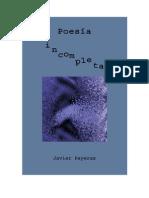 Poesía incompleta de Javier Payeras (Poesía latinoamericana contemporánea)