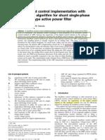 Advan Curre Contr With Deadbeat Algori for Shunt 1-Ph APF