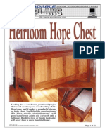 WoodPlans Online - Heirloom Hope Chest