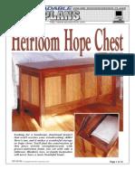 WoodPlans Online - Heirloom Hope Chest