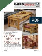WoodPlans Online - Coffe Table & Ottoman