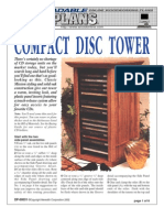WoodPlans Online - Compact Disc Tower