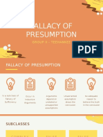 Fallacy of Presumption (Group 2)
