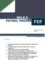 RULE-9-Patrol-Procedures