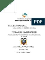 PRINCIPALES GRUPOS ECONOMICOS DE LA REPUBLICA DEL ECUADOR