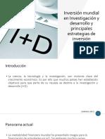 Inversión mundial en  I+D
