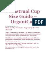 Tentang Menstrual Cup