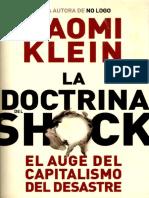 Klein, Naomi. La Doctrina Del Shock
