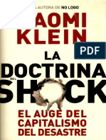 Klein, Naomi. La Doctrina Del Shock