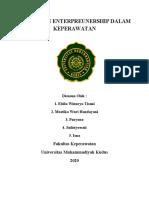 PENERAPAN ENTERPREUNERSHIP DALAM KEPERAWATAN KLP 3