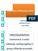 Objectives of Business Firm