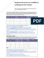 Project Staffing Management PlanTemplate