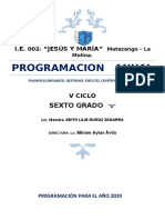 PROGRAMACION DE 6t° GRADO Lilie MUÑOZ agregando corona virus enfoq