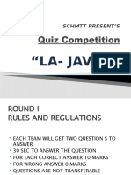 Hospitality Quiz Competition ppt