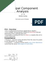 Principal Component Analysis Cp 19