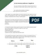 Lista de exercícios com números positivos e negativos - Parte 1- Google Docs
