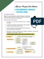 Sintesis Lengua Castellana 5to 1 Periodo