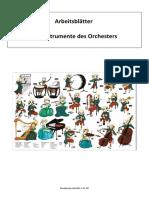 Arbeitsblatt Symphonische Orchester S1 DE Musikunterricht