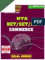 Ugc Net Commerce-2020 by- Hilal Ahmed